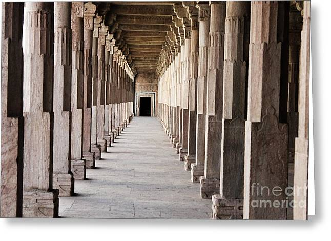 Pillar Hall In The City Of Joy Greeting Card by Four Hands Art