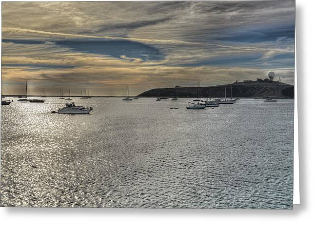 Half Moon Bay Greeting Cards - Pillar Point sunset Greeting Card by Patricia Dennis