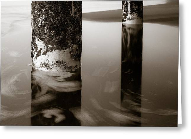 Pillars And Swirls Greeting Card by Dave Bowman