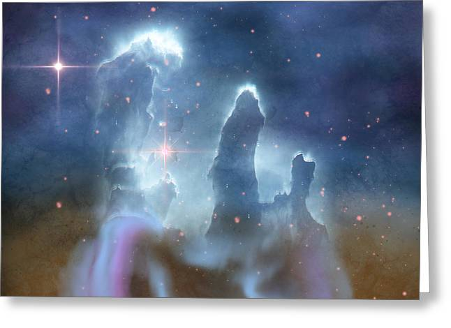 Celestial Pillars.celestial Greeting Cards - Pillars of Creation Greeting Card by Corey Ford