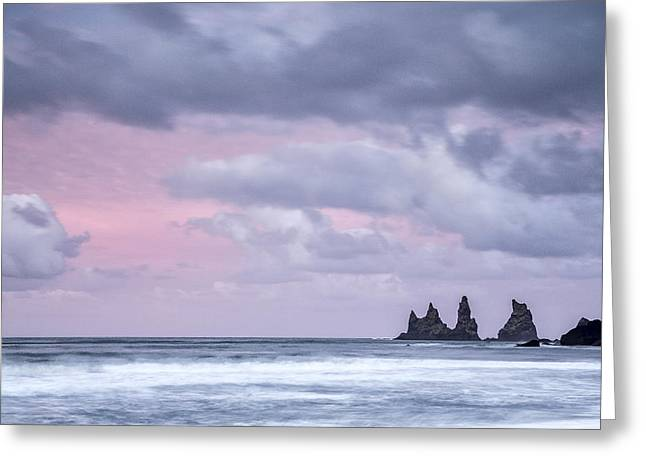 Art In Acrylic Greeting Cards - Pillars of Iceland Greeting Card by Jon Glaser