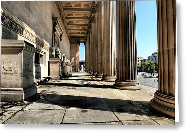 Pillars Of Society Greeting Card by Susan Tinsley