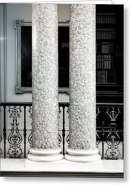 Strength Photographs Greeting Cards - Pillars Greeting Card by Tom Gowanlock