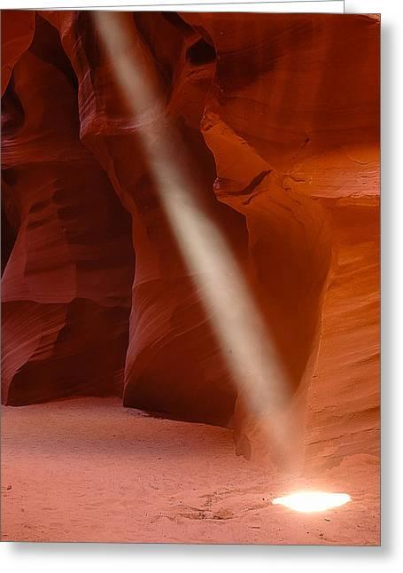 Piller Of Light Greeting Card by Carl Nielsen