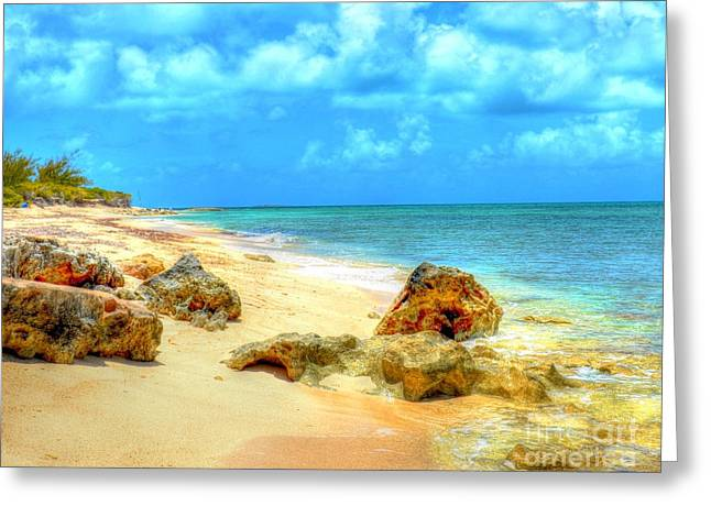 Grand Turk Island Greeting Cards - Pillory Beach Greeting Card by Debbi Granruth