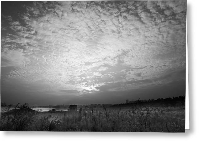 Surreal Landscape Photographs Greeting Cards - Pillow Clouds at Sunset Greeting Card by Mountain Dreams