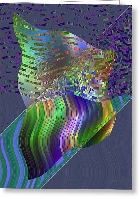 Recently Sold -  - Generative Abstract Greeting Cards - Pillowing Greeting Card by Judi Suni Hall