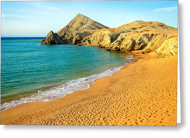 Vela Greeting Cards - Pilon de Azucar Beach Greeting Card by Jess Kraft