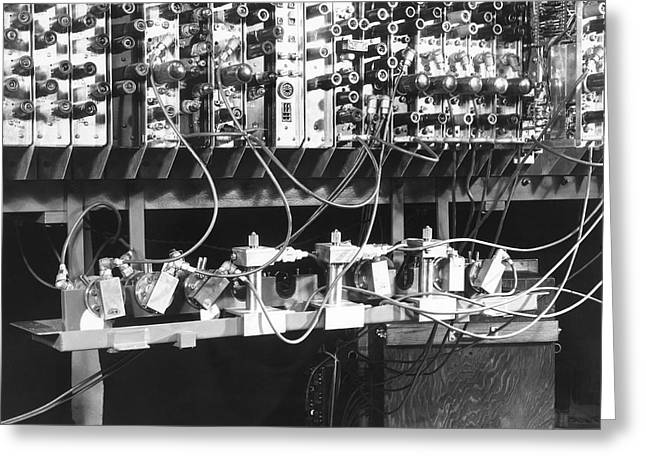 Pilot ACE computer components, 1950 Greeting Card by Science Photo Library