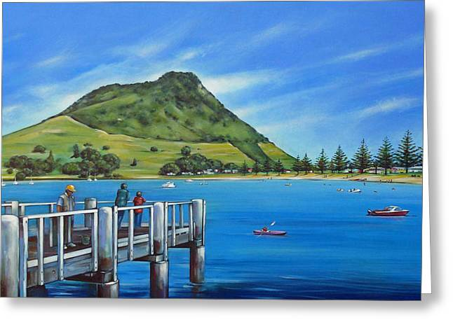 Mount Maunganui Greeting Cards - Pilot Bay Mt Maunganui 201214 Greeting Card by Selena Boron