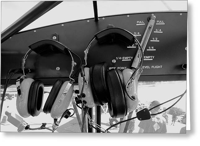 Piper Cub Greeting Cards - Pilot Commication Systems Greeting Card by Daniel Hagerman