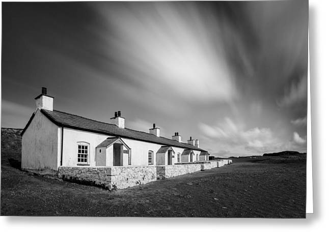 Llanddwyn Island Greeting Cards - Pilot Cottages Greeting Card by Dave Bowman