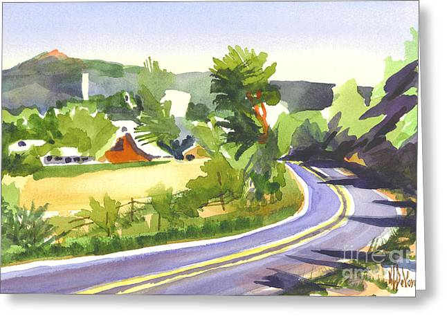 Knob Greeting Cards - Pilot Knob Mountain out JJ Greeting Card by Kip DeVore