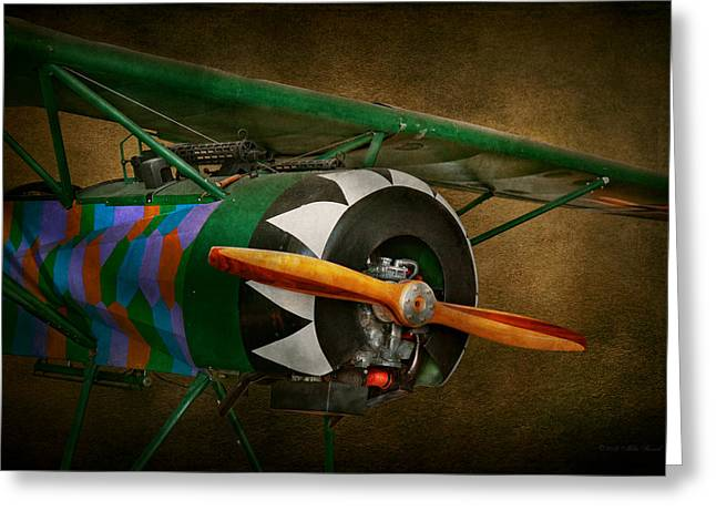 Wwi Greeting Cards - Pilot - Plane - German WW1 Fighter - Fokker D VIII Greeting Card by Mike Savad