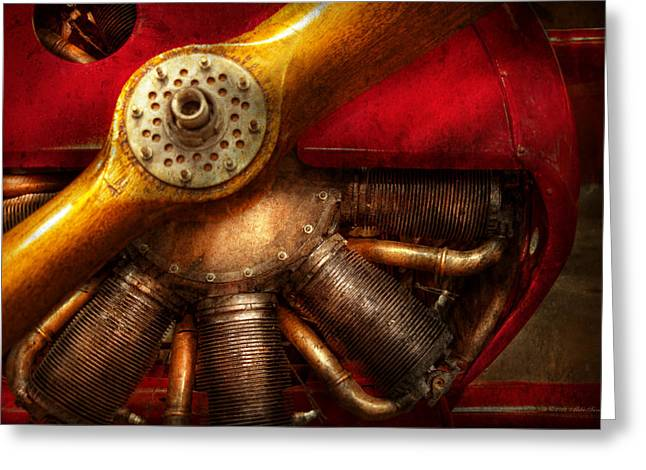Pilot - Prop - The barnstormer Greeting Card by Mike Savad