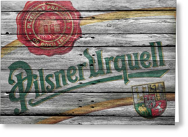 Saloons Greeting Cards - Pilsner Urquell Greeting Card by Joe Hamilton