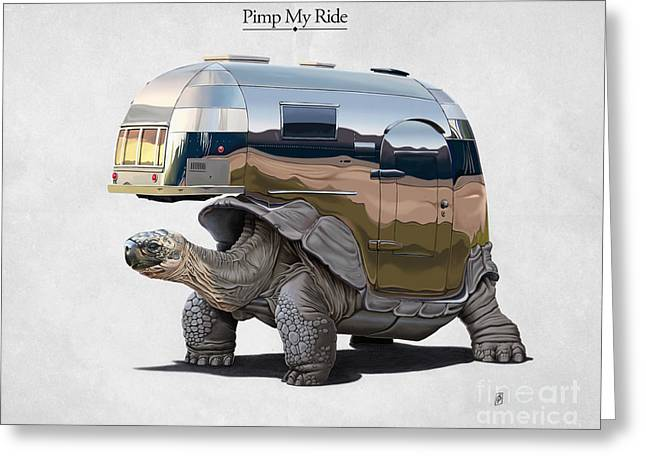 Tortoise Greeting Cards - Pimp My Ride Greeting Card by Rob Snow