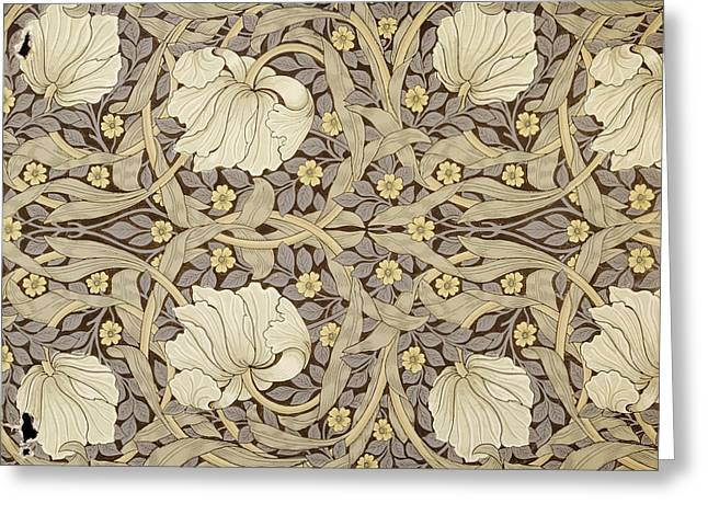 Patterned Paintings Greeting Cards - Pimpernell, Design For Wallpaper, 1876 Greeting Card by William Morris