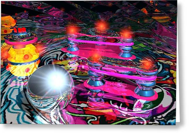 Circus Graphics Greeting Cards - Pin Ball Greeting Card by Larry  Page