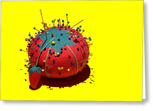 Pincushion Greeting Cards - Pin Cushion Greeting Card by Tom Mc Nemar