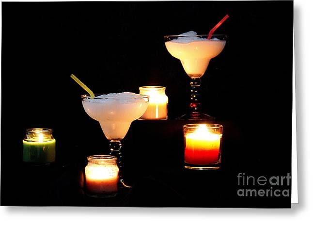 Candle Lit Pyrography Greeting Cards - Pina Colada. No.1 Greeting Card by RL Clough