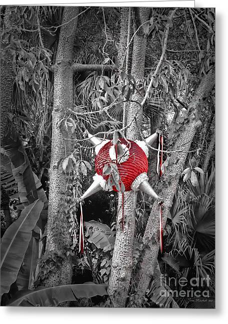Pinata In Woods Greeting Card by Joan  Minchak