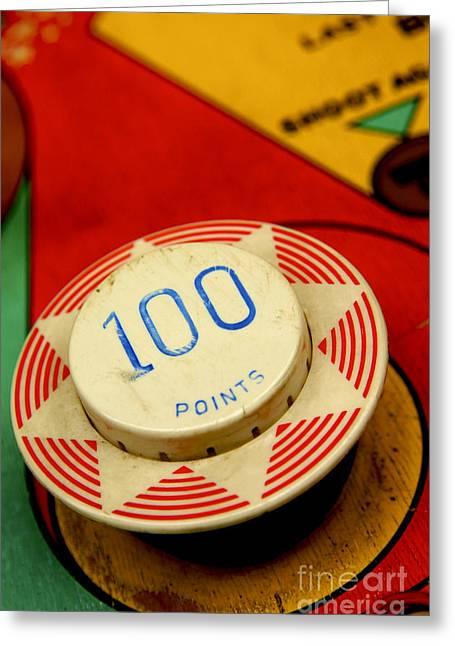Pastimes Photographs Greeting Cards - Pinball machine Greeting Card by Bernard Jaubert