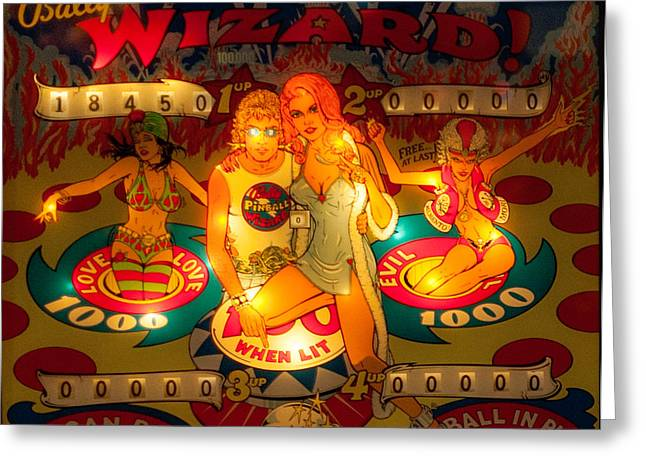 Basement Art Greeting Cards - Pinball Wizard Tommy Vintage Greeting Card by Terry DeLuco
