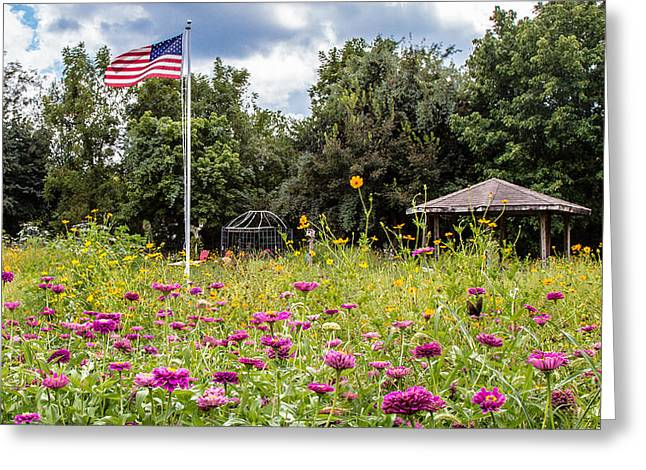 Searcy Greeting Cards - Pindall Garden Greeting Card by Bob King