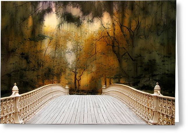 Footbridge Greeting Cards - Pine Bank Arch in Autumn Greeting Card by Jessica Jenney