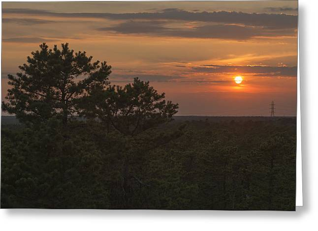 Bathroom Prints Greeting Cards - Pine Barrens Sunset NJ Greeting Card by Terry DeLuco