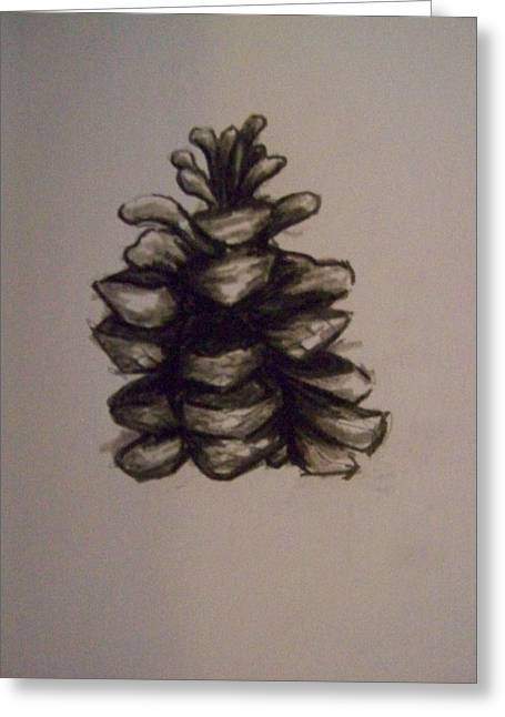 Pine Cone Greeting Card by Molly Grover