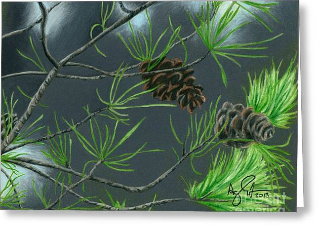 Pine Cones Greeting Card by Troy Argenbright