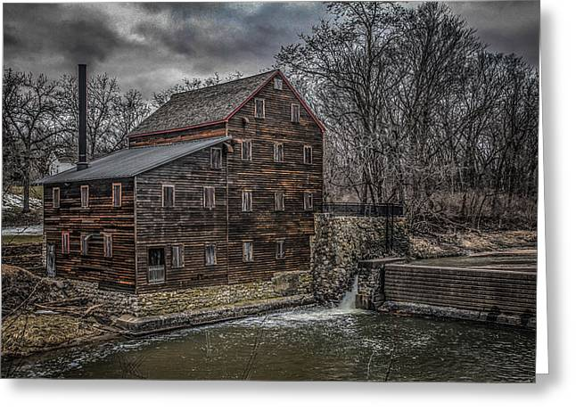 Muscatine Greeting Cards - Pine Creek Mill Greeting Card by Ray Congrove
