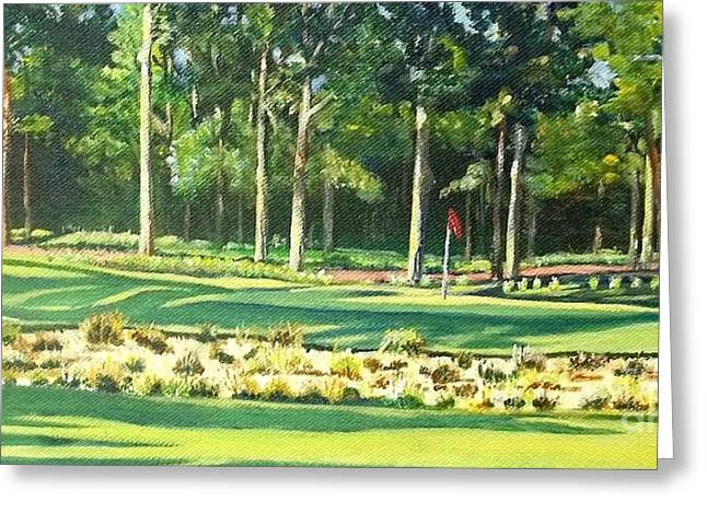 Us Open Golf Paintings Greeting Cards - Pine Needles 11 Greeting Card by Frank Giordano