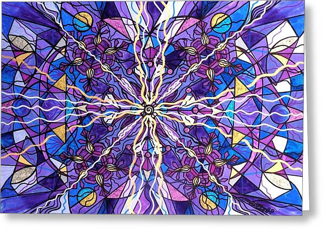 Printed Paintings Greeting Cards - Pineal Opening Greeting Card by Teal Eye  Print Store