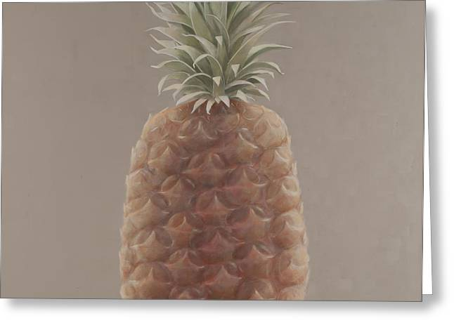 Pineapple Photographs Greeting Cards - Pineapple, 2012 Acrylic On Canvas Greeting Card by Lincoln Seligman