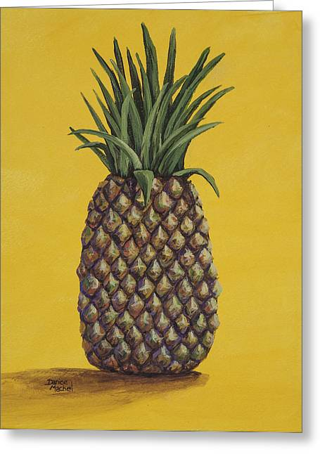Interior Still Life Paintings Greeting Cards - Pineapple 4 Greeting Card by Darice Machel McGuire