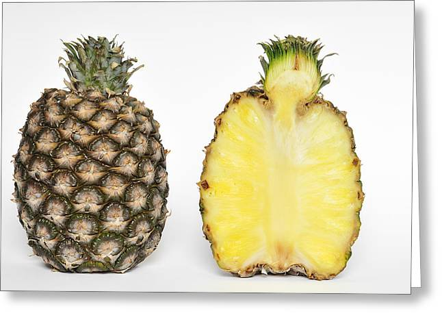 Sweetly Greeting Cards - Pineapple Ananas comosus Greeting Card by Matthias Hauser