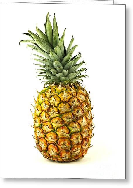 Fruits Photographs Greeting Cards - Pineapple Greeting Card by Blink Images