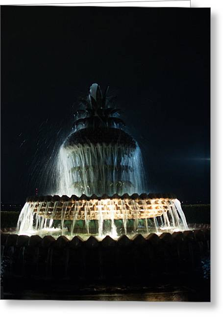 Three Tiered Fountain Greeting Cards - Pineapple Fountain Greeting Card by Sonja Dover