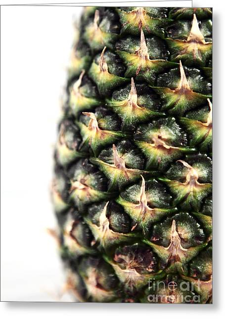 Pineapple Half Greeting Card by John Rizzuto