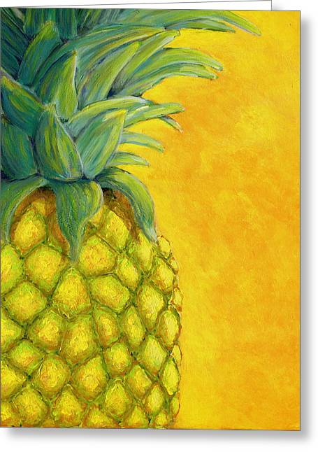 Pineapple Greeting Card by Karyn Robinson
