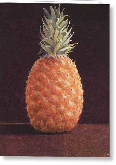 Exotic Fruit Greeting Cards - Pineapple Greeting Card by Lincoln Seligman