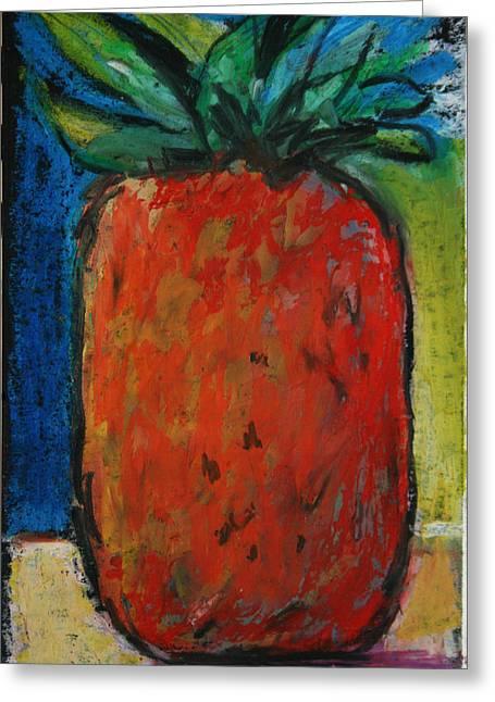 Pineapple Pastels Greeting Cards - Pineapple Greeting Card by Linda Tilden