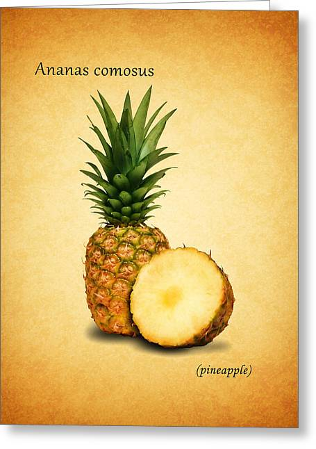 Pineapple Photographs Greeting Cards - Pineapple Greeting Card by Mark Rogan