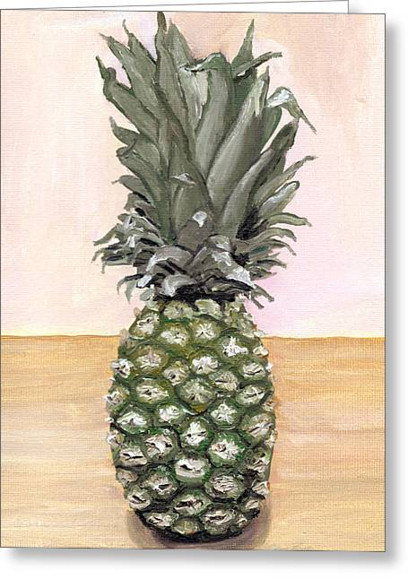 Pineapple Paintings Greeting Cards - Pineapple Painting Greeting Card by Arch