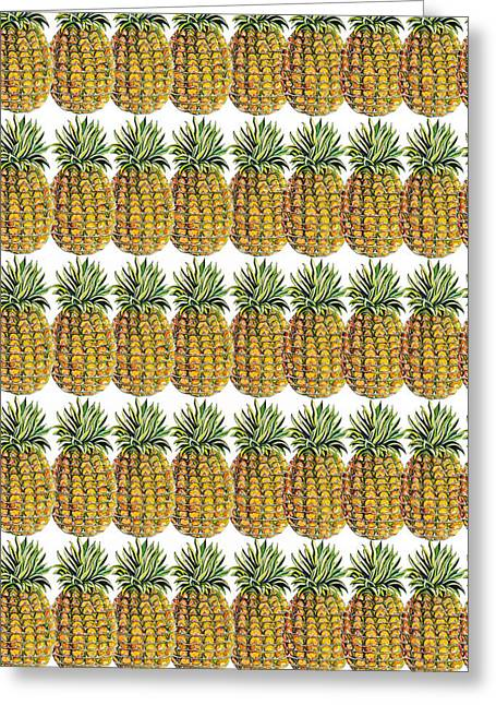 Pineapple Parade Greeting Card by John Keaton