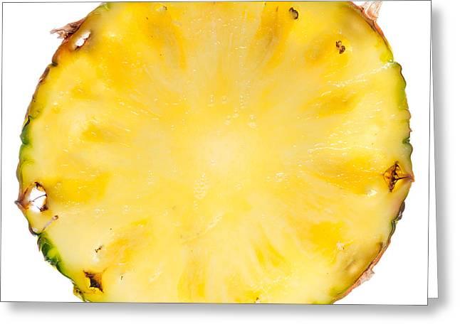 Pineapple Photographs Greeting Cards - Pineapple SLice Greeting Card by Steve Gadomski