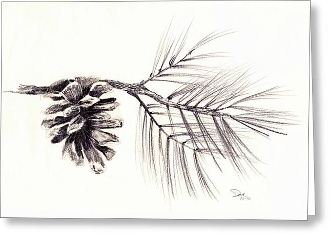 Pinecrest Pinecone Greeting Card by David Hohmann